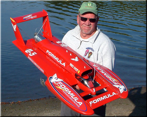 Roger Newton with the U-5 Formula Hydroplane